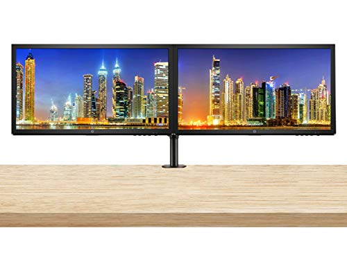 HP V24 24 inch TN Full HD 1920 x 1080 LED Backlit LCD Monitor 2-Pack Bundle with HDMI and VGA ports, AMD FreeSync, 75Hz Refresh Rate, Low Blue Light and Desk Mount Clamp Dual Monitor Stand