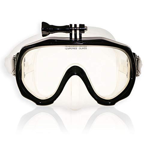RABIGALA Máscara de buceo Scuba para adultos, buceo, natación con falda de silicona y para niños, hombres y mujeres, color negro