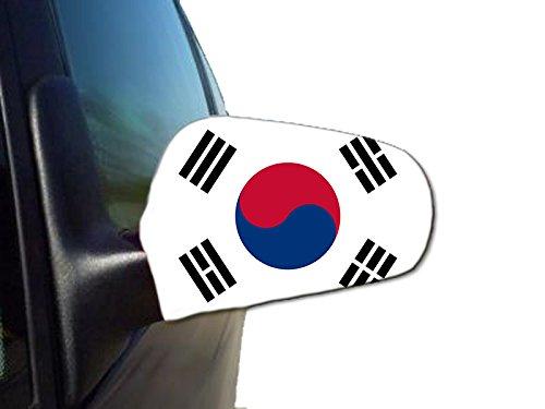 Sonia Originelli 2er Set Außenspiegel Flagge WM Fußball Fan Auto Fahne Farbe Südkorea