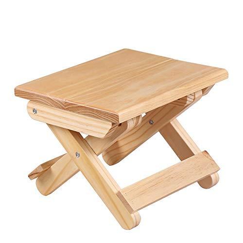 Holzklappbarer Tritthocker für Kinder komplett montiert robust und stabil Wildhocker oder Angelhocker für den Außenbereich für Picknick Angeln Badezimmer
