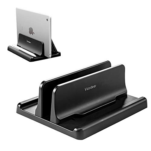 VAYDEER Vertical Laptop Stand Holder Adjustable Desktop ABS Notebook Dock 3-in-1 Space-Saving for All MacBook Pro Air, Mac,HP, Dell, Microsoft Surface,Lenovo, up to 17.3 inch