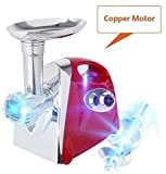 Electric Meat Grinder with 4 Knifes for KitchenAid 800w Stainless Steel Meat Mincer