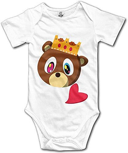Huijiaoo Baby Kanye West Bear Kurzarm Strampler Klettern Kleidung