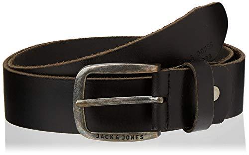 JACK & JONES JJIPAUL JJLEATHER BELT NOOS, Cinturón Hombre, Negro (Black), 90 cm (Talla del fabricante: 90)
