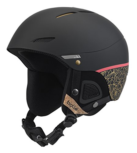 Bollé Juliet, Casco da Sci Donna, ABS iniettato, Black Rose/Gold, M 54-58 cm