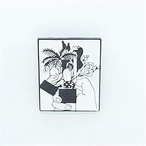 JTXZD broche bloem plant aansteker broche combinatie trend persoonlijkheid shirt revers trui badge broche vriend