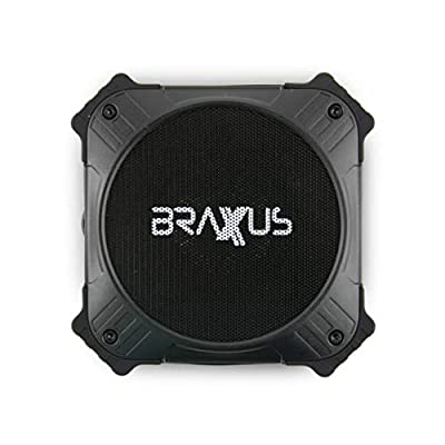 Braxus Solar Portable Bluetooth Speaker - 5w - 12+ Hours Playtime - Portable Speaker Solar Charger LPX6 Waterproof Wireless Bluetooth 4.2 Speaker - 2000mah Power Bank For Outdoor Life - Solar Power Ba