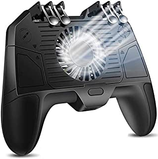 Mobile Controller, Triggers Mobile Game Controller met Cooling Fan Compatiple for/Call of Duty/Fotnite, L1R1 L2R2 Gaming G...