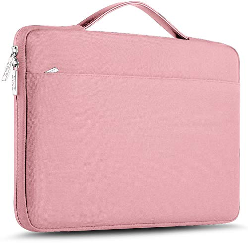 ZINZ Maletín 15 15,6 16 Funda Portátil Impermeable para 15-16 Pulgadas MacBook Pro 16 15, Surface Laptop 3 15,XPS 15 Laptop Ultrabook Netbook, DELL HP Lenovo Acer ASUS y más, Rosado