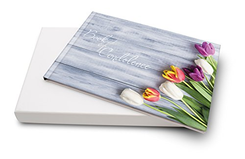 Libro de Condolencias, color Tulips
