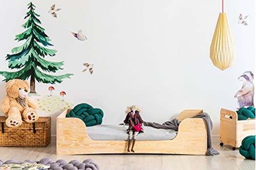 Mami | Cama para niños | Cuna Montessori Osito | Colchón Smart (no incluido) Altura niño | Color madera natural | Grabado personalizado con el nombre