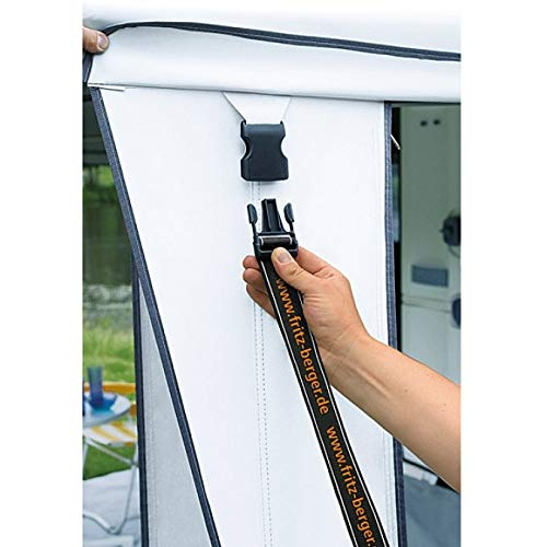 BERGER Sicherheitsgurt Plus Zelthöhe bis zu 200cm Sturmschutz Sturmsicherung Vorzelt Spanngurt