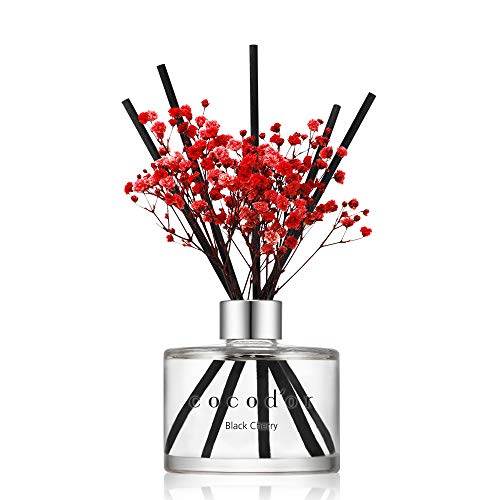 [Cocod'or/Schwarzkirsche] Flower diffusers oil with a set of 5 fiber sticks, 200ml 1 pack, Best for Home, Kitchen. A wide variety of scents for Aromatherapy. diffuser öl set, Duftöldiffusoren