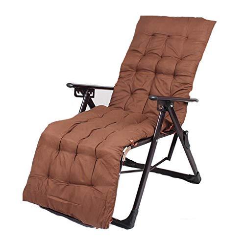 Pliable Portable Recliner en Plein Air Plage Chaise Bureau Nap Lit Retour Rotin Chaise Amis Rassemblement Peut Porter 200kg (avec Brown Long Mat)