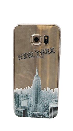 NOVAGO Elegante funda - gel de silicona irrompible - para Samsung Galaxy NOTE 4 (Nueva York)