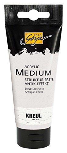 Kreul 86101 - Solo Goya Acrylic Medium, Strukturpaste Antik Effekt, pastose Spachtelmasse zur Erzeugung einer Antikoptik, 100 ml Tube