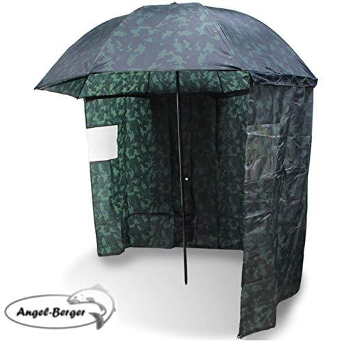 Angel-Berger Schirmzelt Angelschirm mit Seitenwand Camou
