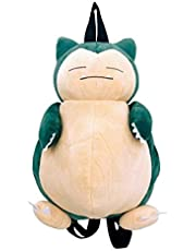 Mcttui Knuffeldier rugzak Pluche Bag Speelgoed for waggelt - Grote Snorlax Plush Backpack Multi Function Cosplay Anime figuren Shoulder Pikachu Snorlax Doll Cartoon tas for Boy Girl Gifts