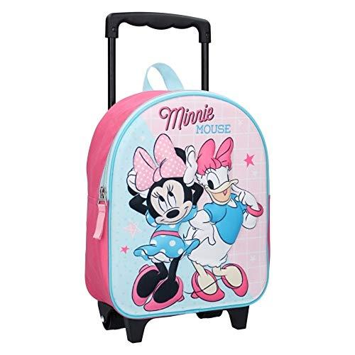 Minnie Mouse & Paperina Zainetto Zaino Trolley in 3D Scuola Materna Asilo Escursioni Tempo Libero