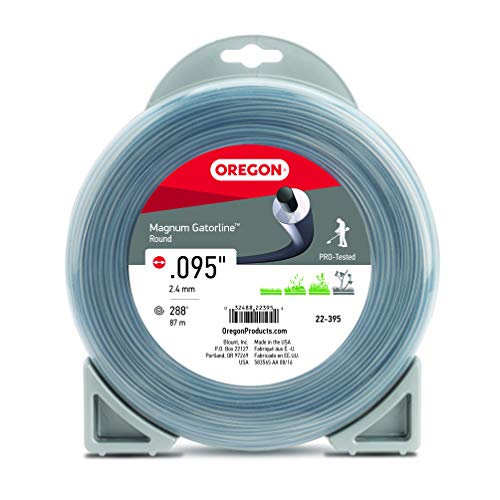 Oregon 22-395 Gatorline Heavy-Duty Professional Magnum 1-Pound Coil of .095-Inch-by-288-Foot Round String Trimmer Line , Gray