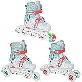 Croxer 3in1 Kinder Inlineskates/Triskates/Rollschuhe Inez verstellbar (26-29(15cm-17,5cm))