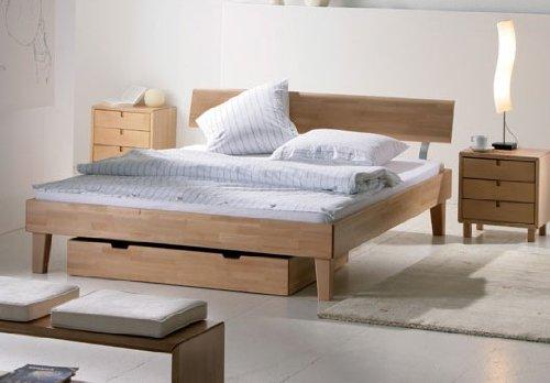 Stilbetten Bett Holzbetten Halifax Kernesche 120x200 cm