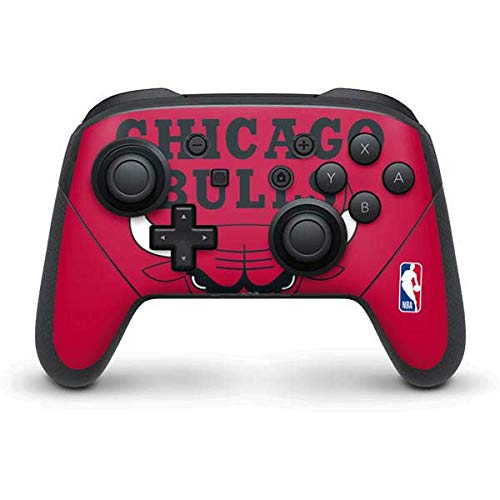 Skinit Decal Gaming Skin Compatible with Nintendo Switch Pro Controller - Officially Licensed NBA Chicago Bulls Large Logo Design