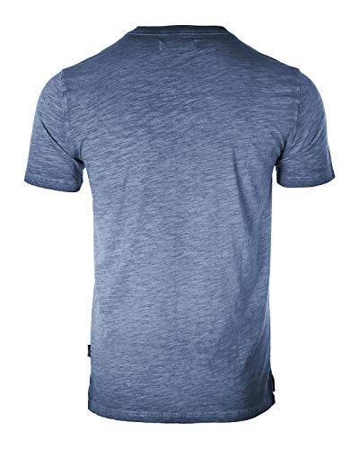 Men's Vintage Color Dyed Short Sleeve Crew Neck Chest Pocket Henley Shirt 5