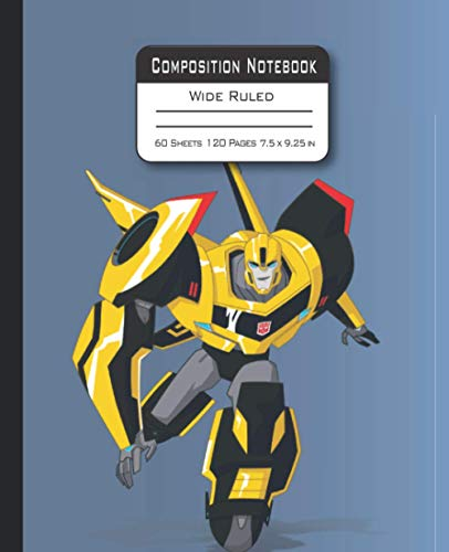 Composition Notebook: Animation Transformer Notebook with Blank Wide Ruled for Kids, Boys, Girls, Teens, Students and Teachers Perfect for ... and Birthday Gift Back To School Supplies.