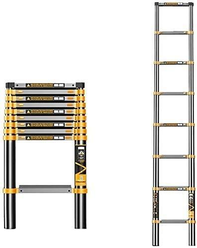 Escaleras telescópicas multifuncion Escalera De Aluminio De 7.5 FT Escalera De Telescopia |Ladera De Extensión Telescópica Multiusos Para IndustrialLoft |Capacidad Máxima De Carga 330 Lb Escaleras par
