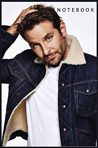 """Bradley Cooper Notebook Gift /Journal Great for Birthday or Christmas Gift: Perfect for taking notes , Sketching Soft Matte Cover and 110 Premium Paper/Pages, 6"""" x 9"""" inches"""