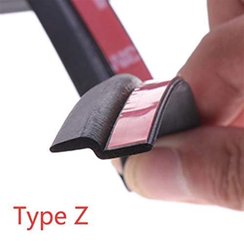 Tira de sellado para puerta de coche, 5 metros, goma EPDM, aislamiento acústico, resistente al ruido, sellado fuerte (color: 5 metros, tipo Z)