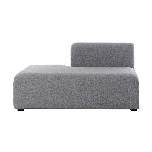 HAY Mags Sofa-Modul Lounge Links 132,5x95,5cm, hellgrau Stoff Hallingdal 130 Füße Kiefernholz schwarz gebeizt mit Filzgleitern