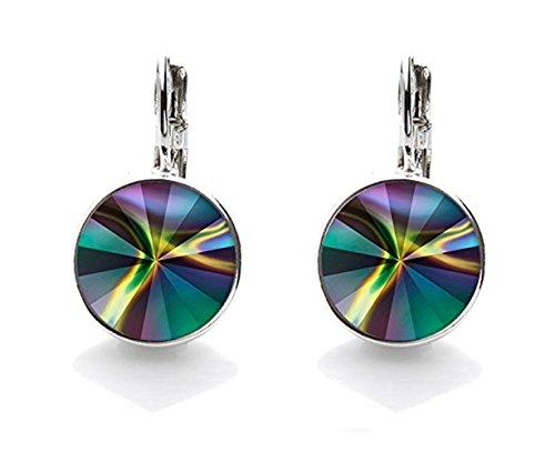 Preisvergleich Produktbild Silvity Damen Ohrringe veredelt mit einem Swarovski® Kristall Farbe: Silber 852002-20