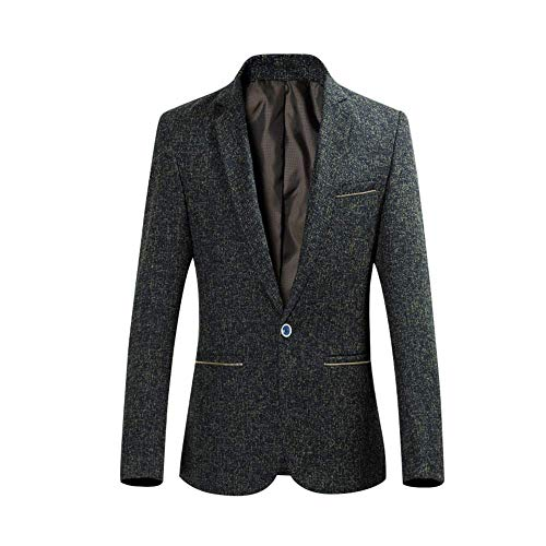 YOUTHUP Heren Blazer Slim Fit Wol Jassen Korte Type Winter Jassen 1 Knop pak Jas