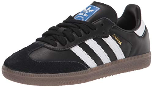 adidas Originals Men's Samba OG Sneaker Black/White/Gum 9.5