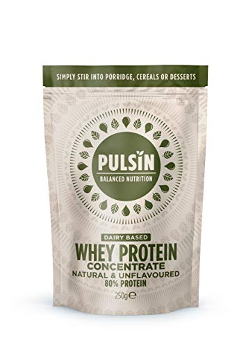 Pulsin Natural Unflavoured Whey Concentrate Protein Powder 250g