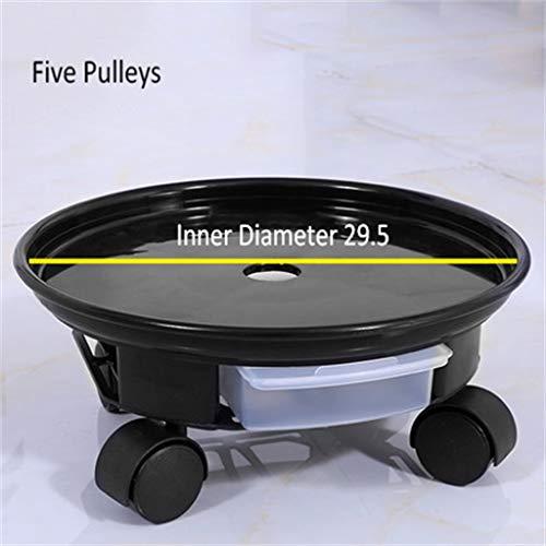 G-HJLXYZWJHOME Plantenstandaard van kunststof, rond, voor planten, pothouders, binnen en buiten, dienblad met wieltjes met afneembaar waterreservoir [2 pakket]