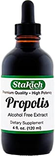Stakich Bee Propolis 4 Ounce Liquid Extract - Alcohol Free 30%