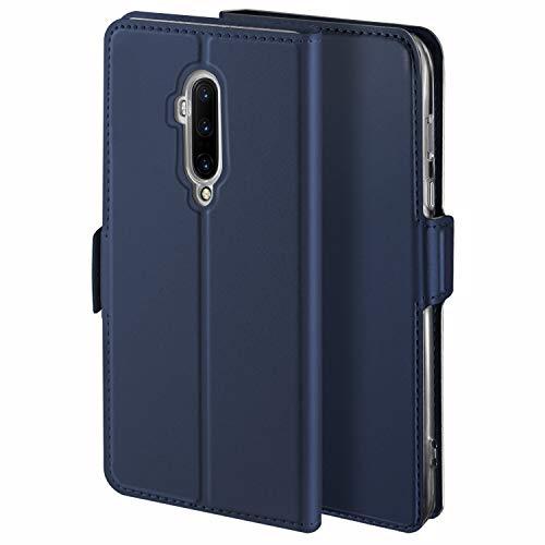 YATWIN Handyhülle für Oneplus 7T Pro Hülle Leder Premium Tasche Hülle für Oneplus 7T Pro, Schutzhüllen aus Klappetui mit Kreditkartenhaltern, Ständer, Magnetverschluss, Blau