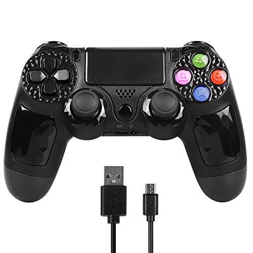 Controller für PS4, PowerLead Wireless Controller für PlayStation 4, Gamepad mit Gyroskopsensor mit 6-Achsen-Erkennungsfunktion, Mit Touchpad-Spielbrett, rutschfestem Griff und LED-Anzeige