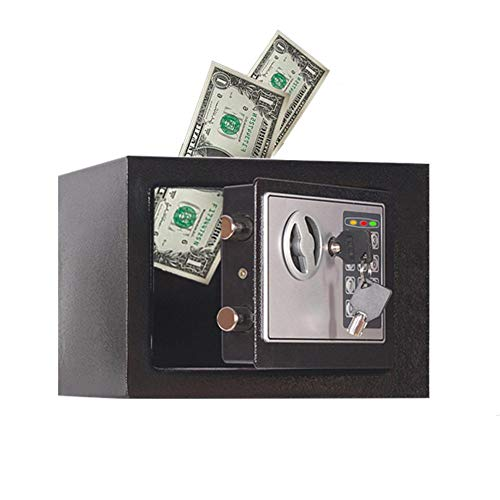 QUUY Elektronische spaarvarken, mini-automaat, elektronische geldmunt, spaarpot met wachtwoord-logo, voor kinderen, verjaardagsspeelgoed
