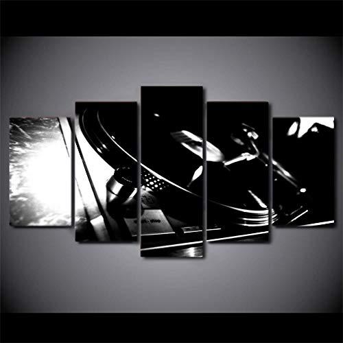 rkmaster-Hd Print 5 Stuk Canvas Art Dj Muziek Speler Schilderen Muziek Cd Rom Wandbeeld Voor Woonkamer Moderne Cu 2327B