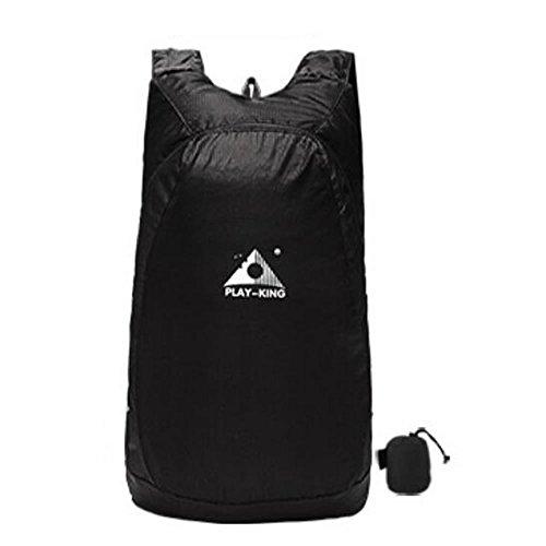 SD エコリュック 折畳み式 リュックサック 20L バッグ 旅行 収納 防水 登山 活躍 ブラック HANPAECO-BK