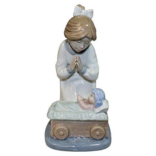 Unbekannt Lladro Nao Porzellanfigur Bitte, 21 cm hoch, betendes Mädchen