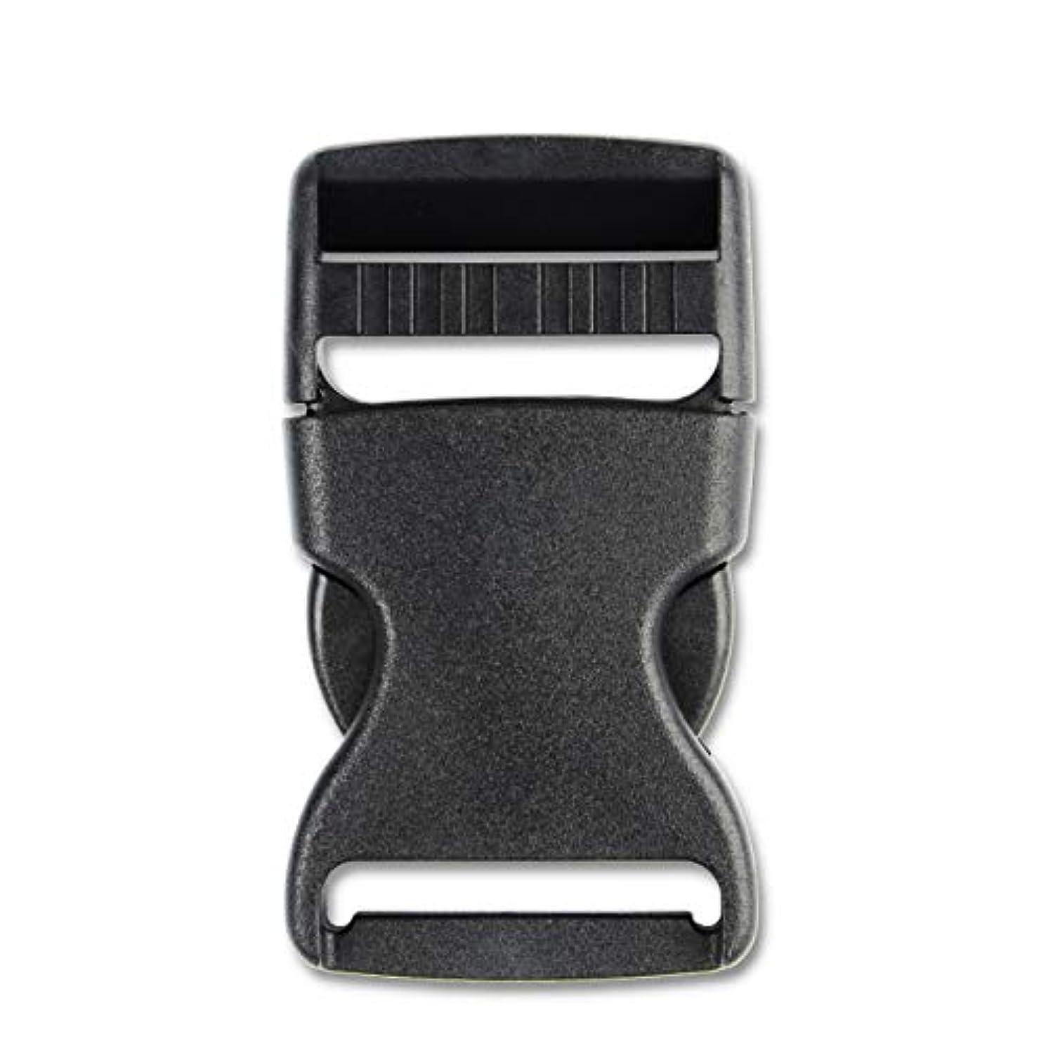 Adjustable 1.5''(38mm) Side Release Buckles (4PCS, Black)