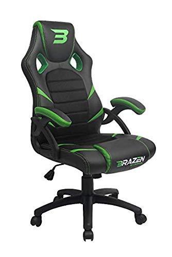 BraZen 18074 Puma PC Gaming Chair-Green