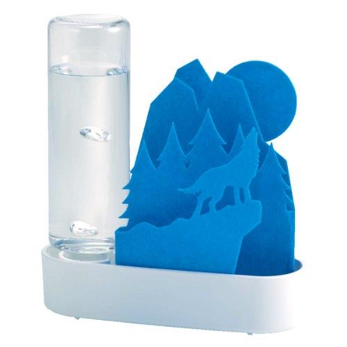 積水樹脂 自然気化式ECO加湿器 潤いちいさな森 オオカミ‐ブルー ULT-OK-BL
