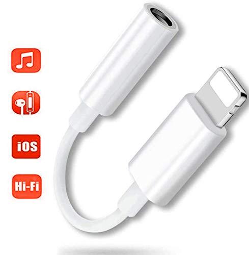 【2020音質改善型】 iPhone用 イヤホン 変換 アダプタ ケーブル 3.5mm アイホン ヘッドホンジャック アダプター iOS11/12/13対応 (改善型)