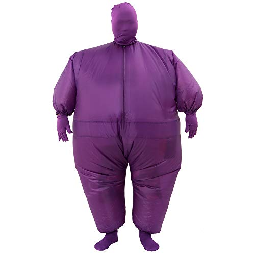 RHYTHMARTS Inflatable Costume Full Body Suit Halloween Costumes Fancy Dress Adult Costume (Purple)